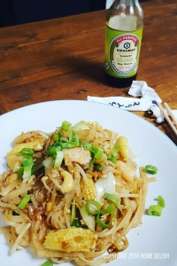 Gluten free prawn pad thai recipie from Home Delish