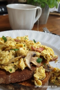 Dad's hearty scrambled eggs