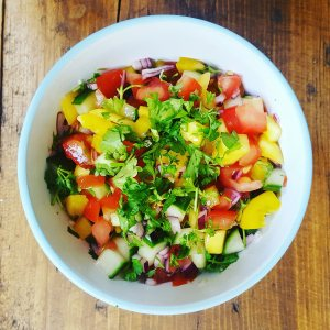 Chunky Mango Salsa by Home Delish