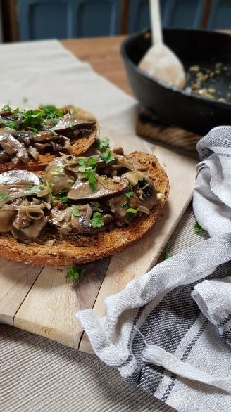 Martini Mushrooms on toast Home Delish
